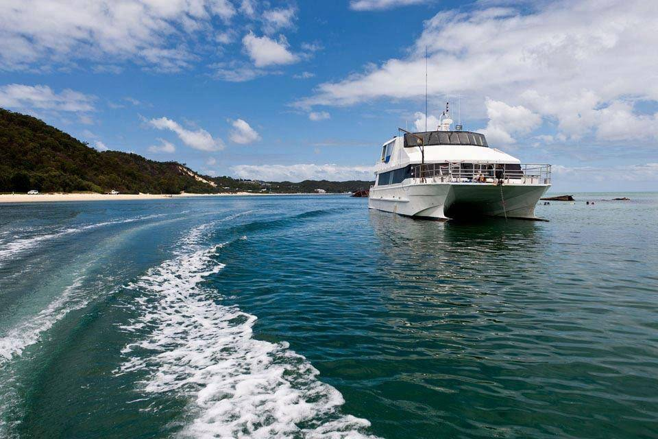 Anchored at Moreton Island